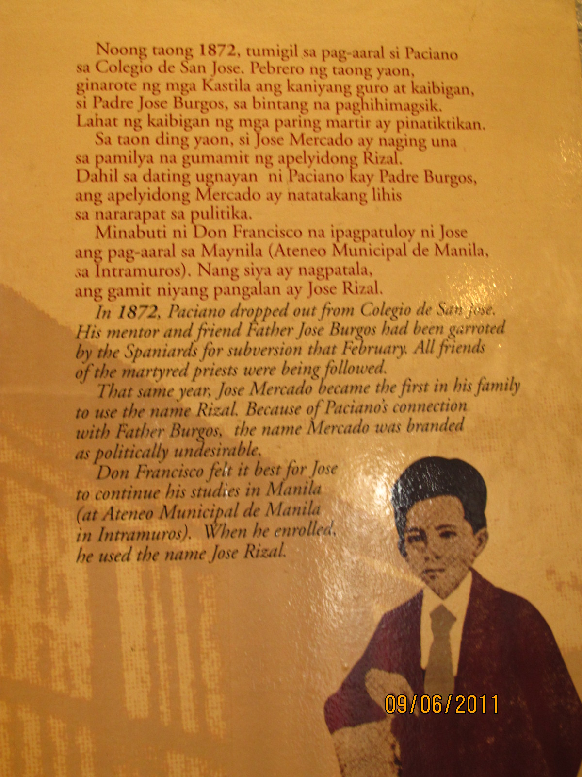 jose rizal first poem