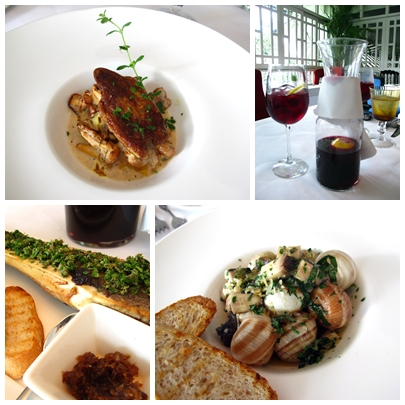 Chanterelle Mushrooms with Foie Gras+Tinto Verano+Escargot+Roasted Bone Marrow: And these are just appetizers!