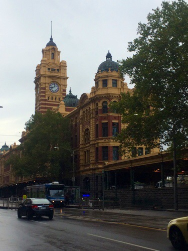 The iconic Flinders Station.