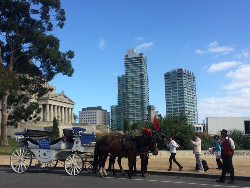 Shrine of Remembrance. A Memorial to ANZAC heroes.