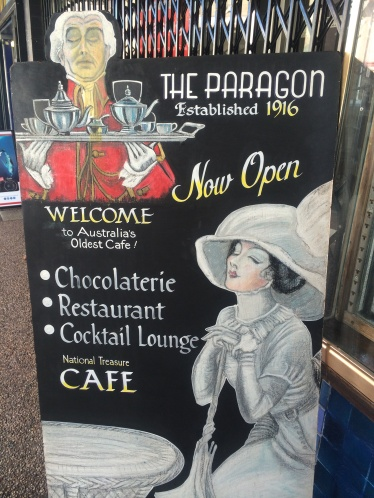 Paragon Cafe is the oldest cafe in Australia.