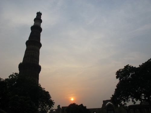 It was a lovely time of day to visit Qutab Minar.