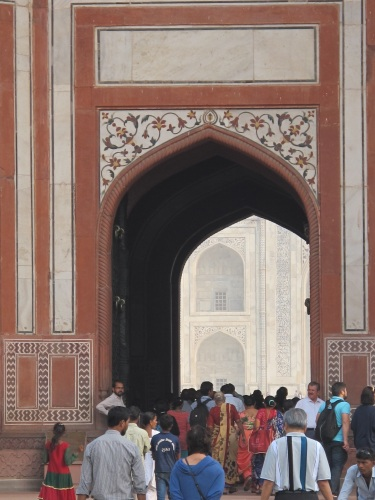 A glimpse of the royal tomb as one enters the gate.