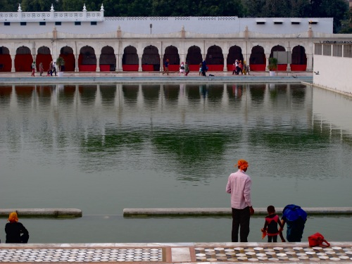 This is the temple pool where pilgrims cleanse themselves.