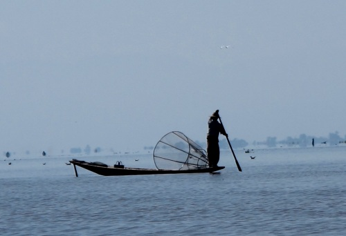 Intha fisherman of Inle Lake
