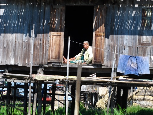 A local in the Fishing village.